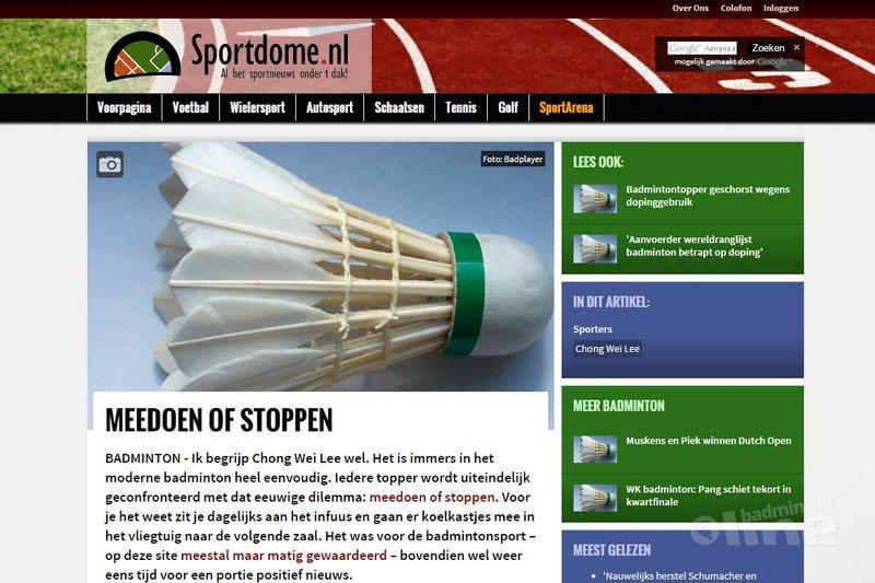 Ik begrijp Chong Wei Lee wel - Sportdome.nl