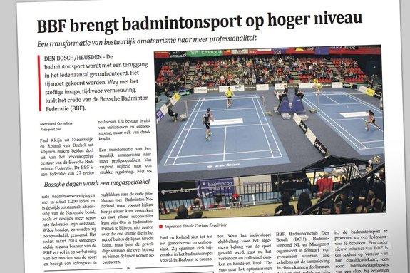 BBF brengt badmintonsport op hoger niveau - Scherper