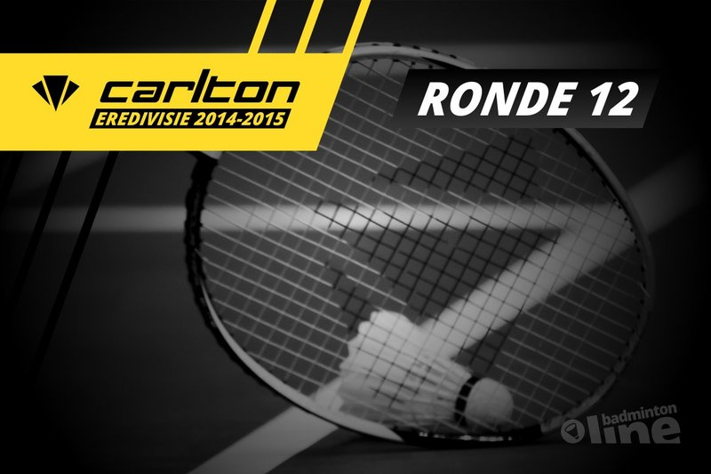 Carlton Eredivisie 2014-2015 - speelronde 12 - badmintonline