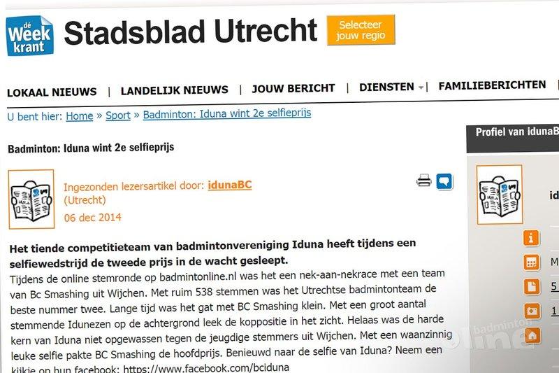 Stadsblad Utrecht: Iduna wint 2e selfieprijs - Stadblad Utrecht