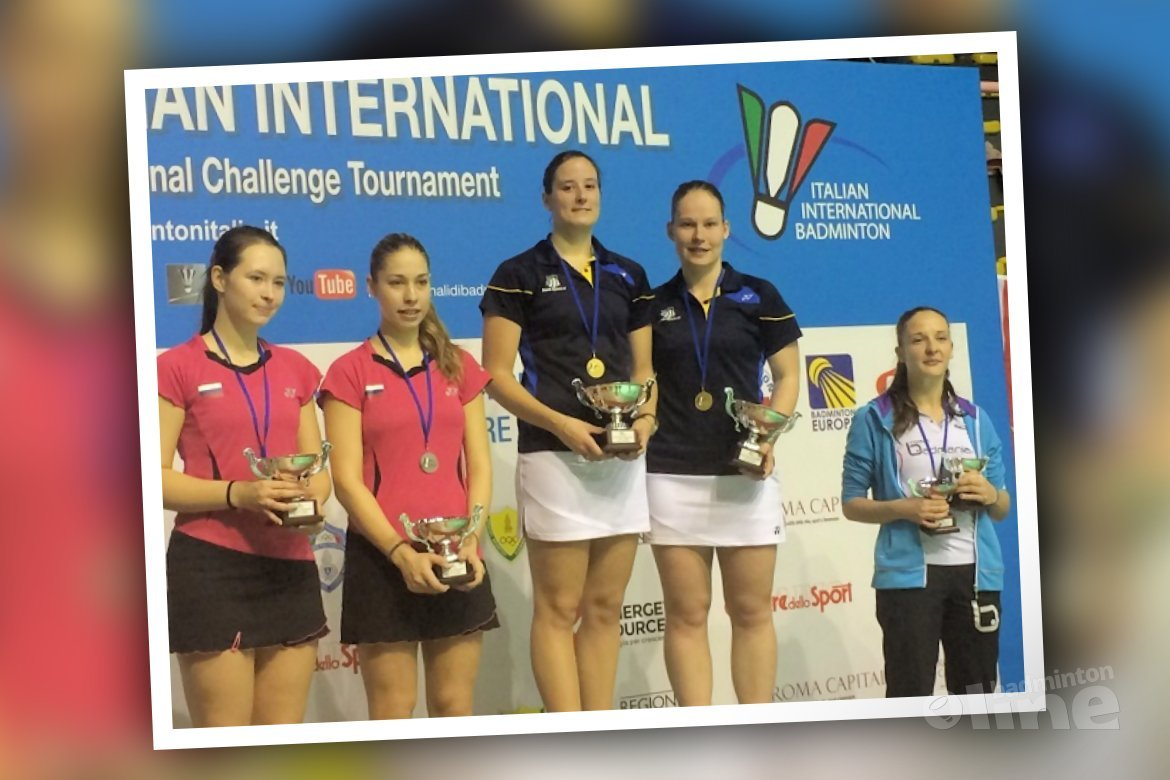 Goud voor Iris en Samantha in Italian International