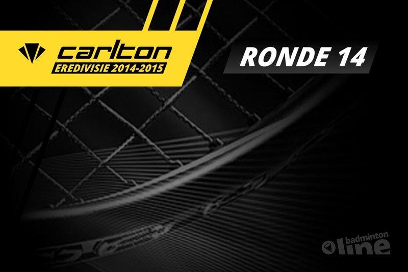 Carlton Eredivisie 2014-2015 - speelronde 15 - badmintonline