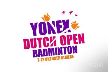 Drie Nederlandse kwartfinales Yonex Dutch Open