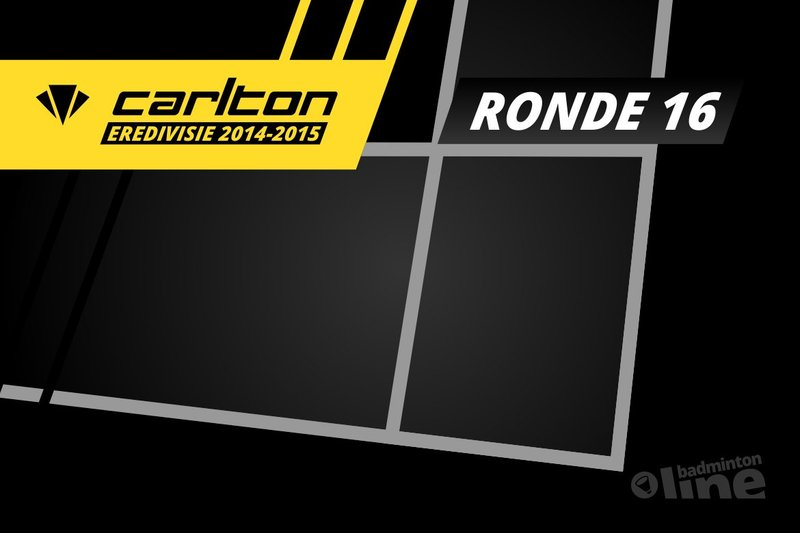 Carlton Eredivisie 2014-2015 - speelronde 16 - badmintonline