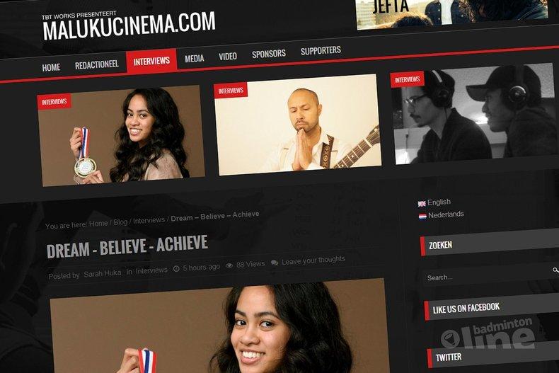 Deze afbeelding hoort bij 'Gayle Mahulette: Dream, believe, achieve' en is gemaakt door Maluku Cinema