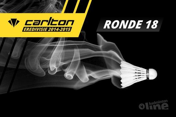 Carlton Eredivisie 2014-2015 - speelronde 18 - badmintonline