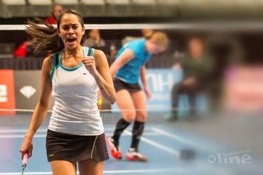 Nederlandse badmintonners in actie bij EK 2016 in Frankrijk