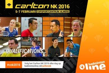 Geen grote verrassingen tijdens kwalificatietoernooi Carlton NK Badminton 2016
