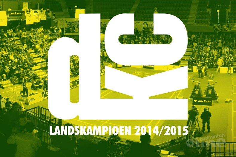 Deze afbeelding hoort bij 'Badmintonfeest in Den Bosch: Haagse DKC landskampioen Carlton Eredivisie' en is gemaakt door badmintonline