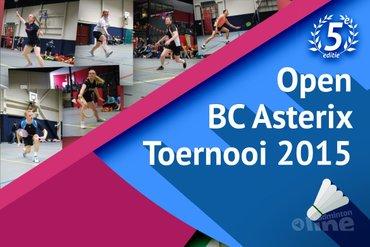 Asterix Open toernooi dit jaar ook voor eerste divisie spelers!
