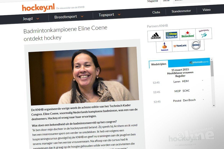 Badmintonkampioene Eline Coene ontdekt hockey