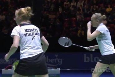 Eefje en Selena: tevreden over niveau halve finale Swiss Open