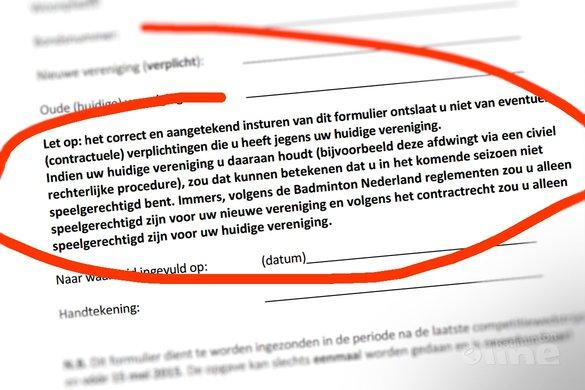 Overstappen naar andere club? Check de 15-mei-regeling! - badmintonline.nl