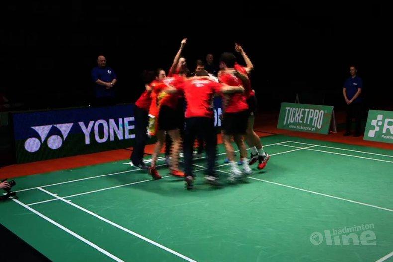 Deze afbeelding hoort bij 'Spain crowned European champions' en is gemaakt door Badminton Europe