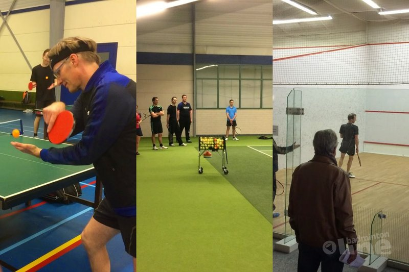 Try-out racketlon succes - Paul Kleijn
