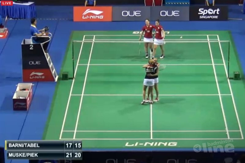 Eefje Muskens en Selena Piek naar kwartfinale Singapore Open - BWF
