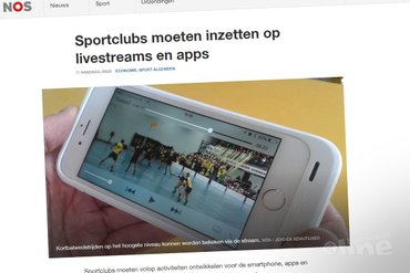 Sportclubs moeten inzetten op livestreams en apps