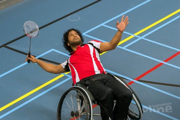 Jordy Brouwer is Nederlands Kampioen aangepast badminton in de herenenkel - Edwin Sundermeijer