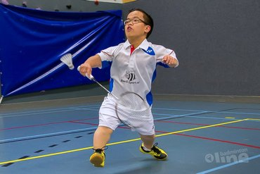 Carlton Irish Para-Badminton International met Jordy, Mark en Joey