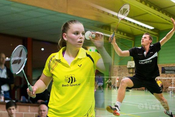 Deze afbeelding hoort bij 'Badmintonners 'dichtbij maar toch ver weg' van finale' en is gemaakt door René Lagerwaard