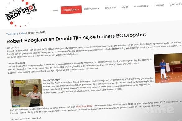 Robert Hoogland en Dennis Tjin Asjoe trainers bij Dropshot - BC Dropshot