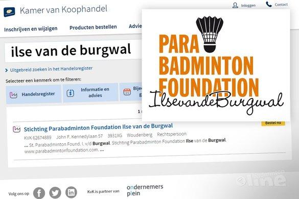 Ilse van de Burgwal richt stichting op voor aangepast badminton - Ilse van de Burgwal