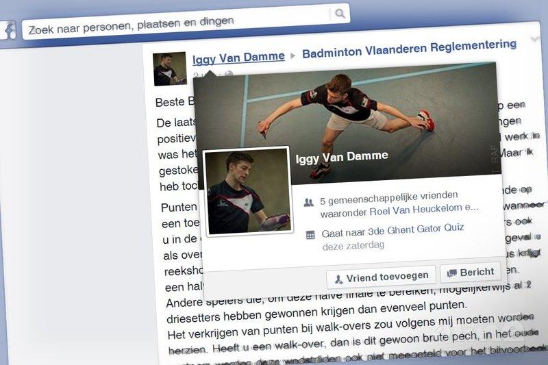 Iggy Van Damme: Beste Badminton Vlaanderen - Facebook