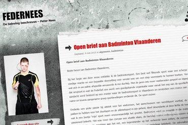 Open brief aan Badminton Vlaanderen