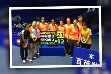 Sudirman Cup 2015: Nederland opent met 3-2 zege op Canada