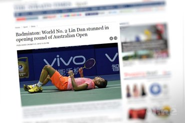 World No. 2 Lin Dan stunned in opening round of Australian Open