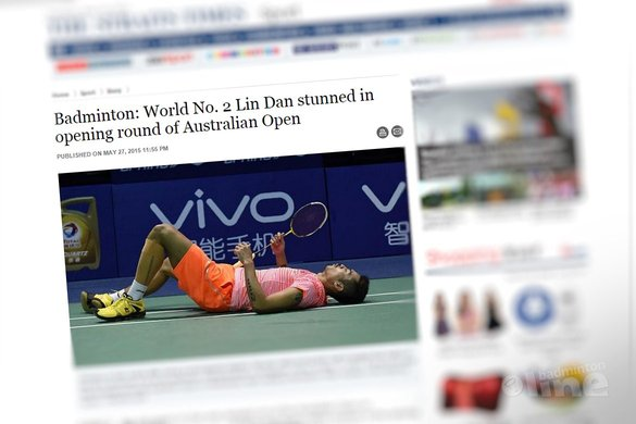 World No. 2 Lin Dan stunned in opening round of Australian Open - The Straits Times