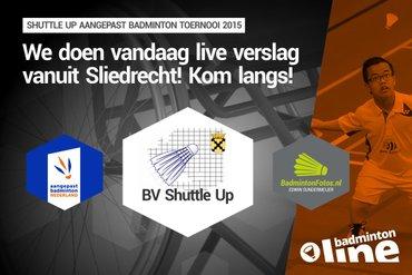 badmintonline.nl vandaag aanwezig bij Aangepast Badminton Sliedrecht