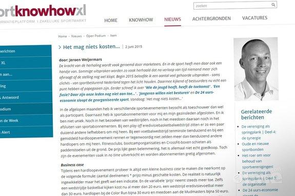 Sport: Het mag niets kosten! - Sport KnowHow XL