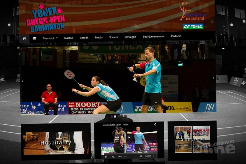 Nieuwe website Yonex Dutch Open: hoofdsponsorschap toernooi te koop voor 50.000 euro - Badminton Nederland