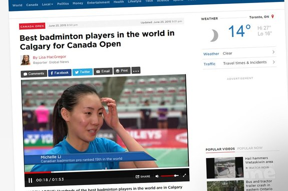 Best badminton players in the world in Calgary for Canada Open - GlobalNews