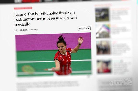 Deze afbeelding hoort bij 'Lianne Tan bereikt halve finales in badmintontoernooi en is zeker van medaille' en is gemaakt door De Morgen