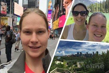 Iris Tabeling vierde haar verjaardag in Canada