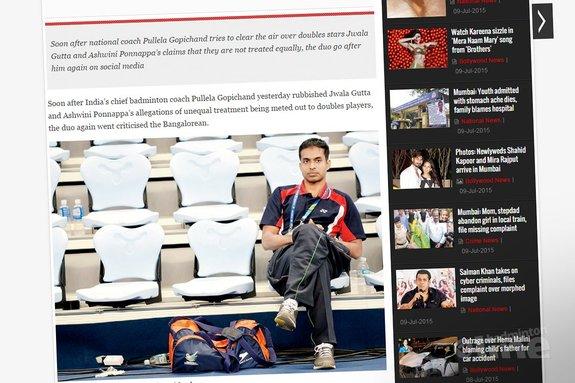 Indian badminton's war gets messier between Gopichand and Jwala-Ashwini - mid-day