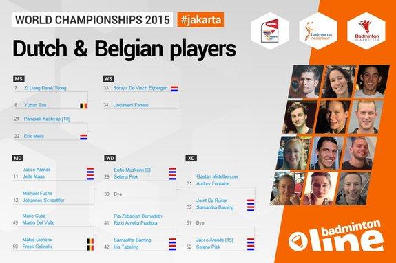 Deze afbeelding hoort bij 'Loting WK Badminton 2015 in Jakarta is gereed: geen Eric Pang' en is gemaakt door badmintonline.nl