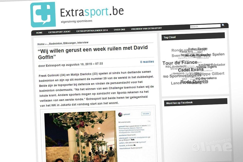 Freek Golinski en Matijs Dierickx: Wij willen gerust een week ruilen met David Goffin