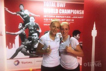 Eefje Muskens en Selena Piek naar derde ronde op WK badminton