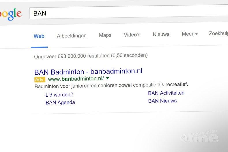 Deze afbeelding hoort bij 'Badminton Amersfoort Noord investeert niet alleen in Google Adwords, maar ook in nieuwe hoofdtrainer' en is gemaakt door Google