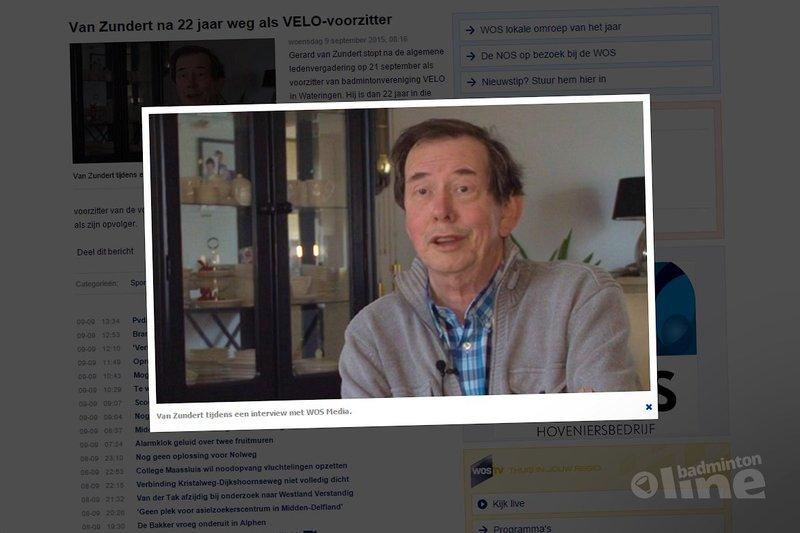 Gerard van Zundert na 22 jaar weg als VELO-voorzitter - WOS.nl