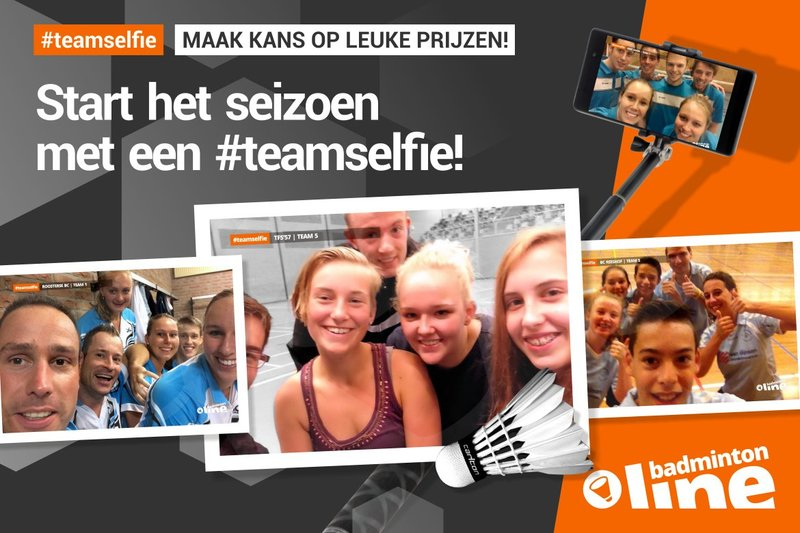 Start het seizoen met een #teamselfie! - badmintonline.nl