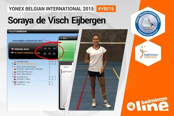 Deze afbeelding hoort bij 'Soraya de Visch Eijbergen reaches quarter finals at Yonex Belgian International' en is gemaakt door badmintonline.nl