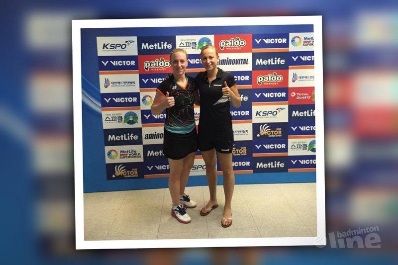 Badmintonsters Selena Piek en Eefje Muskens naar kwartfinales Korea Open - Selena Piek en Eefje Muskens