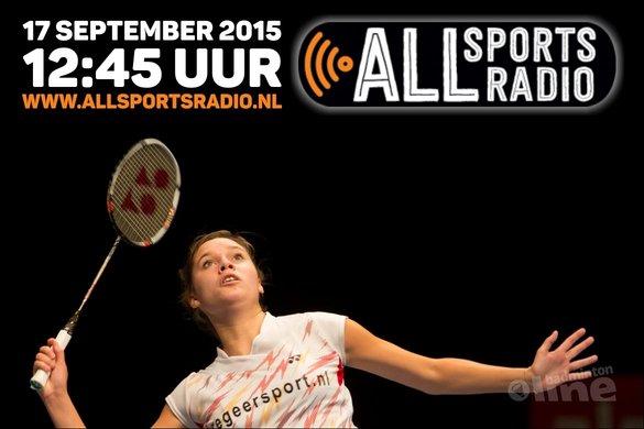 Soraya de Visch Eijbergen vertelt bij ALLsportsradio over haar crowdfundactie - René Lagerwaard / badmintonline.nl