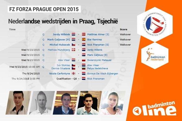 Handvol Nederlanders in Tsjechië voor Prague Open 2015 - badmintonline.nl