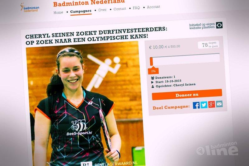Cheryl Seinen zoekt durfinvesteerders: op zoek naar een Olympische kans! - Cheryl Seinen