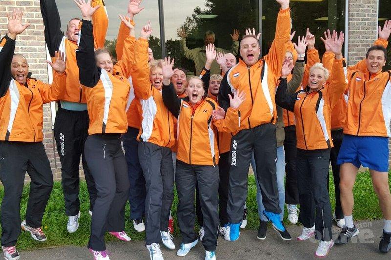 Slotdag badmintonveteranen tijdens Kent Masters Gold 2015 - Badmintonveteranen
